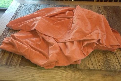 956. Single Duvet Cover, Stretch Cotton. Plain orange colour, no pattern. As new
