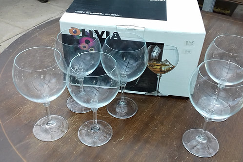 936. Large Gin / Goblet Glasses x 6. Brand new