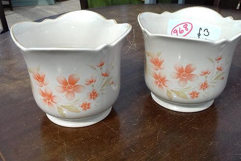 """968. """"Royal Winton"""" Flowerpots"""
