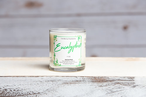 Eucalyptus Scented 11 oz. Candle by PawAroma