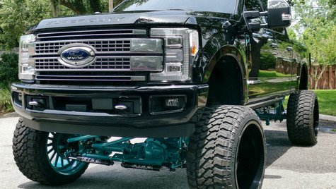 lifted truck detail