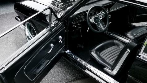 classic car interior detail