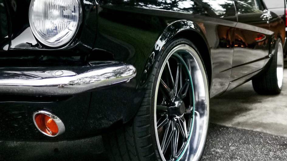 wheels on Mustang