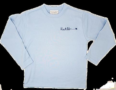 Light Blue Scribble T-Shirt (Long Sleeve)