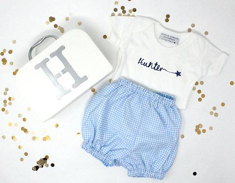 Blake Blue & White Check Gift Box (3-6 Months)