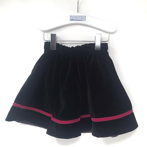ROYAL Velvet Black Skirt