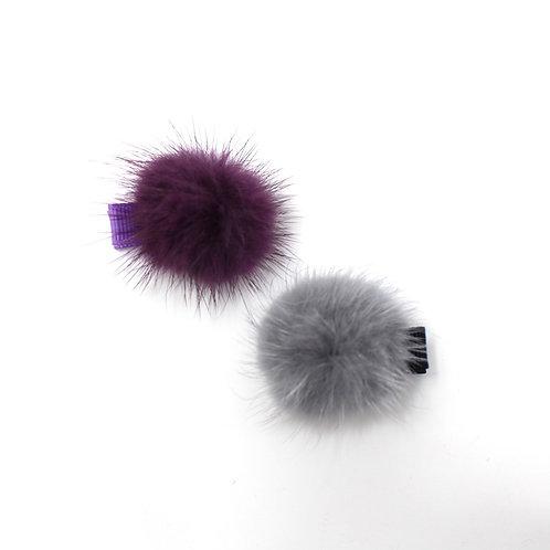 POM POMS (Purple & Grey)