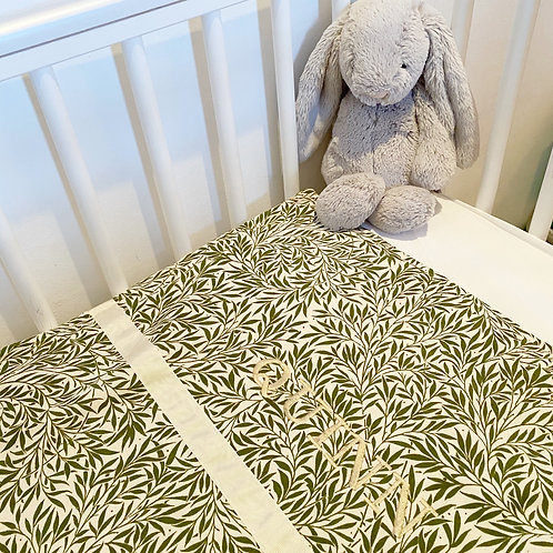 Jungle Leaf Baby Coverlet