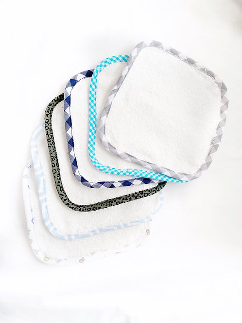 Patterned Towelling Face Cloths