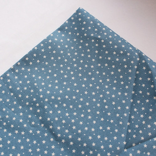 Mid Blue Star Personalised Baby Coverlet