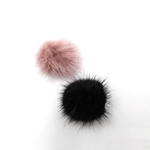POM POMS (Pink & Black)