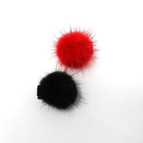 POM POMS (Red & Black)