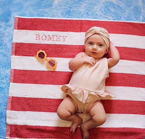 Raspberry Ripple Beach Towel