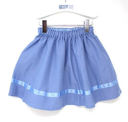 CORNFLOWER (Viyella) Swing Set Skirt