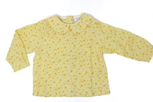 SOLEIL Long Sleeved Button Back Shirt