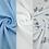 Thumbnail: Alphabet Blue Tone Muslins
