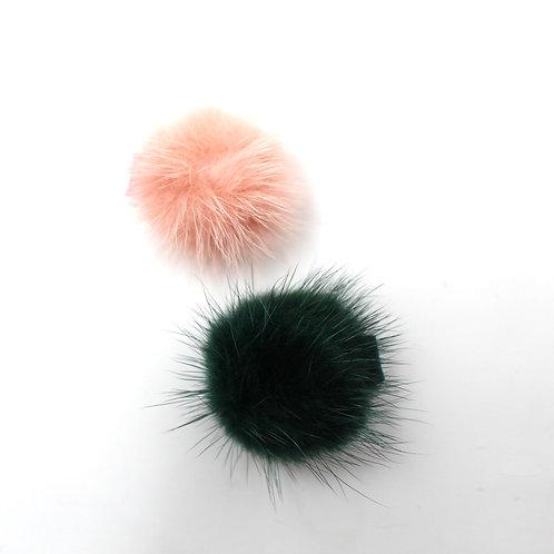 POM POMS (Pink & Dark Green)