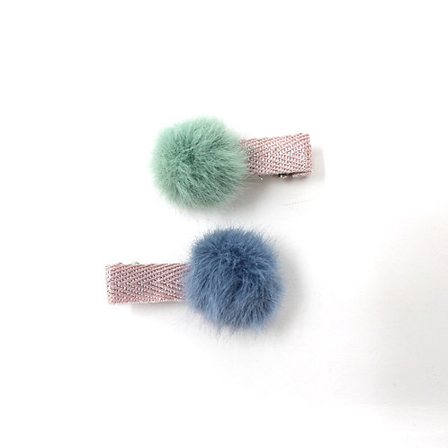 MINI POM POM (Blue & Green)