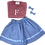 Thumbnail: CORNFLOWER (Viyella) Swing Set Skirt