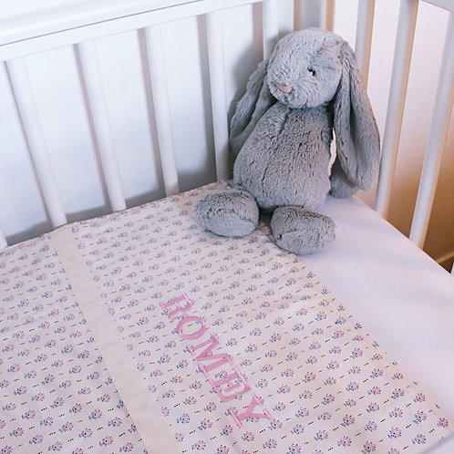 Liberty Tulip Personalised Baby Coverlet