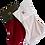 Thumbnail: Large Velvet Stocking (Claret with Tartan)