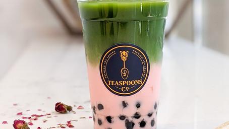 How to make Matcha Rose Milk Tea