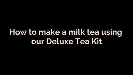 How to make milk tea using our Deluxe Tea Kit
