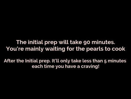 How to prepare your DIY 5 Minute Pearls