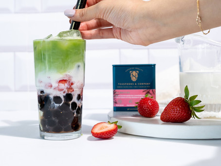 Strawberry Matcha Milk Tea