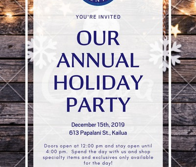HOLIDAY POPUP AND PARTY 12/15  noon to 4pm