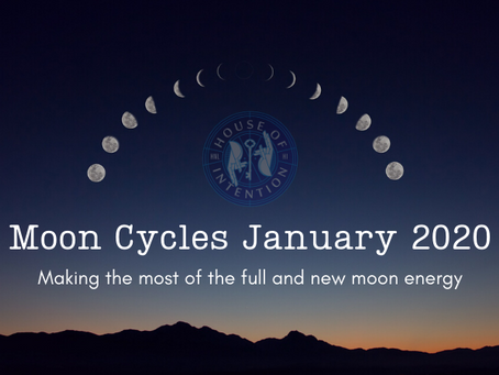 January 2020 Full and New Moon Energies - Making the best of your fresh new start.