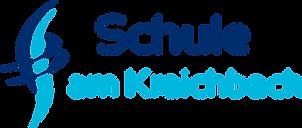 Logo der Schule mit zwei horizontalen und zwei vertikalen geschwungen Linien.