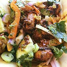 mango chicken Naan wrap