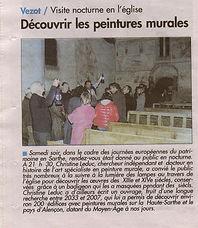 Peintures murales vezot presse Le Perche