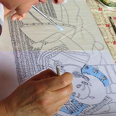 Stage d'été Les Ateliers du Vau Séverine Lièvre fixé sous verre