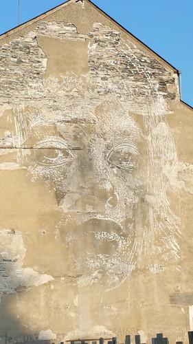 Angers, maison, visage de VHILS