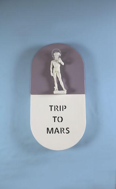 trip to mars, sculpture
