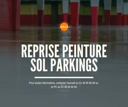 Reprise de la peinture sol des parkings.