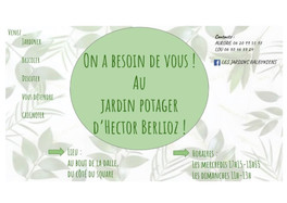 On a besoin de vous au jardin partagé d'Hector Berlioz !