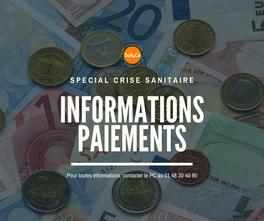 Informations paiements (période confinement)