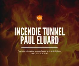 Incendie sous le tunnel de Paul Eluard