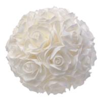 Boule de rose blanche 20 cm