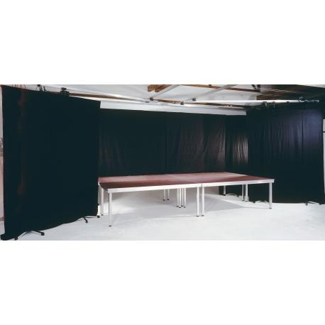 Installation d'une scène avec rideaux roche d'Orléans par LDV vision & réception