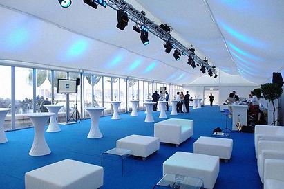 installatin mobilier intéreur pour un événement par LDV vision & réception