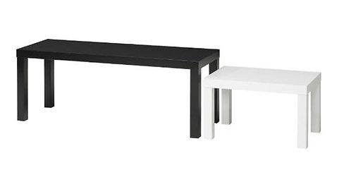 Tables gigognes les 2, noir et blanc