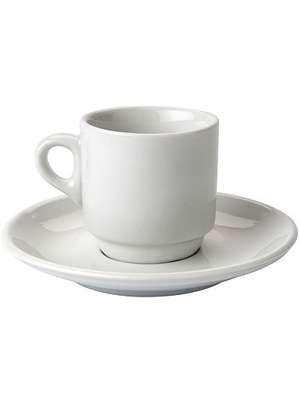 Tasse à café avec sous-tasse PORCELAINE