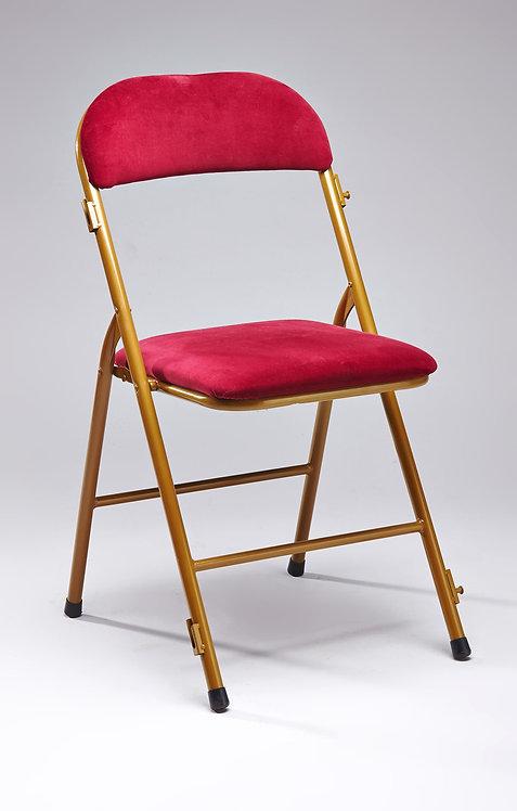 Location de chaise velours rouge