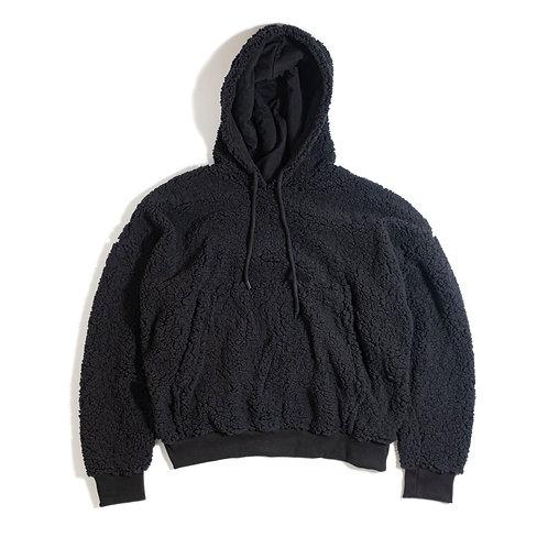 Oversize Black Sherpa Hoodie