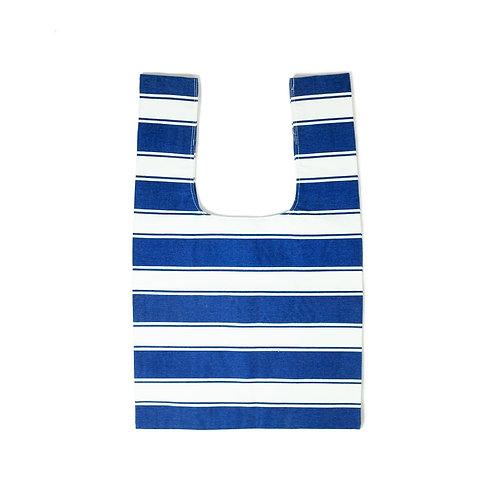 Canvas Blue Shopping Tote Bag