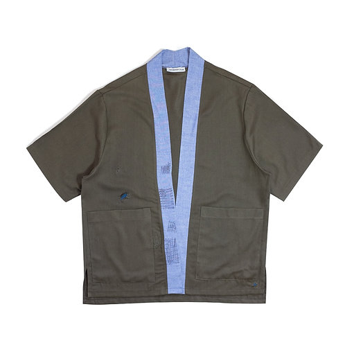 Oversize Olive Kimono